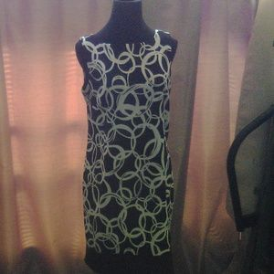 AB Studio Sleeveless Black & White Dress